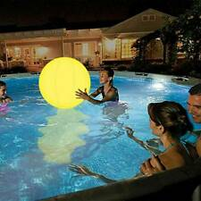 LED Glowing Ball Inflatable PVC Waterproof Beach Ball for Swimming Pool