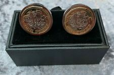 handmade cufflinks made with with £1 coins