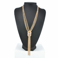 Fashion Gold Women Chain Choker Chunky Statement Bib Necklace Pendant Jewelry