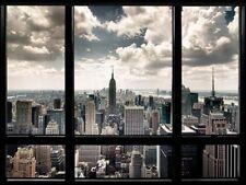 """Art Group """"New York Fenêtre"""" tirage photographique sur toile, 60 cm H"""