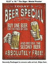Today's Beer Special TIN SIGN rustic vintage retro funny bar decor wall art 2186