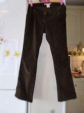Pantalon de maternité en velours marron VÉRONIQUE DELACHAUX femme taille 1 TBE