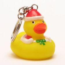 Badeente Schlüsselanhänger Weihnachts-Ente Quietscheentchen Gummienten Duck