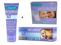Lansinoh HPA Lanolin Cream 40ml and 24 Disposable Nursing Pads