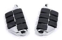 Fußrasten Dually Foot pegs Chrom für Harley Davidson Dyna Softail Sportster VRod