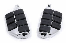 PEDANE Dually FOOT PEGS Cromo per Harley Davidson Dyna Softail Sportster VROD