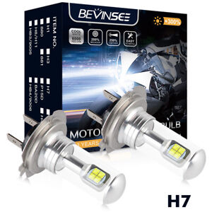 Bevinsee H7 LED Headlight Bulb Kit H/L Beam For Motorcycle Yamaha YZF R1 R3 R6