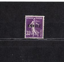 timbre France  Semeuse 35c  violet foncé  surchargé  annulé    NUM: 142-CI 1  *