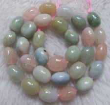 """10x13mm Natural Morganite Freeform Loose Beads 15.5"""""""