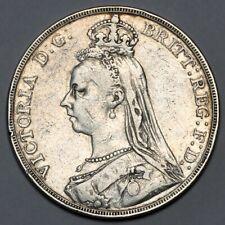 1891 QUEEN VICTORIA GREAT BRITAIN SILVER CROWN COIN