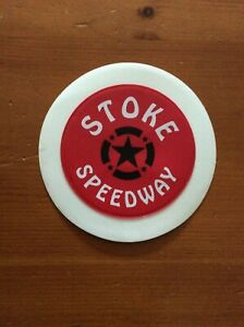 2000's STOKE SPEEDWAY CAR TAX DISC HOLDER  ( GOOD CONDITION )