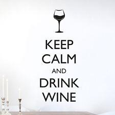 "Wandtattoo Spruch ""Keep calm and drink wine"", Wandsticker, Wandaufkleber"