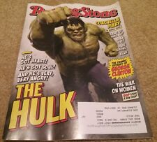 Rolling Stone magazine Hulk cover May 17, 2015 Coachella Blur Thrones complete D