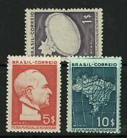 Brazil SC# 496 - 498 Mint No Gum As Issued / Hinged - S7147