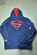 Mens Superman TM & DC Comics Hooded Pull Over Sweater Size L