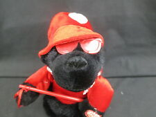 I'M LOOK ON A FEELING SONG BLACK MONKEY SINGING VIBRATING VALENTINE LOVER PLUSH