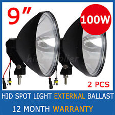 "2x 100W 9inch 240mm HID XENON Driving Spot light Working UTE SUV off road 7"" 9"""