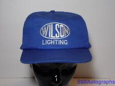Vintage 1980s WILSON LIGHTING Light Fixture Advertising Blue SNAPBACK HAT CAP