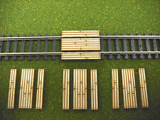 Laser Cut N Scale Custom Single Lane Timber Grade Crossing 4 - Pack