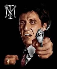 "SCARFACE 1983 Movie Tony Montana AL PACINO Respect QUEEN SIZE BLANKET 79"" x 95"""