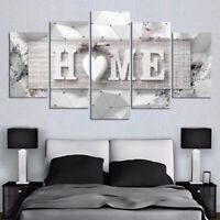 5pcs Home Canvas Oil Painting Picture Wall Arts Living Room Hallway Decor Gifts