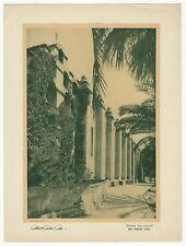 """1922 VINTAGE ALBERT ARTHUR ALLEN PHOTOGRAVURE PRINT """"MISSION SAN GABRIEL"""" CALIF."""