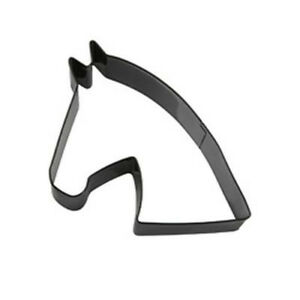 Eddingtons Black Horse Head Cookie Cutter - Pastry and Biscuit Cutter Metal 9cm