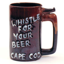 """Vintage CAPE COD DRIP WARE Whistle Beer Mug """"WHISTLE FOR YOUR BEER"""""""