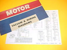 1975 1976 PONTIAC GRAND PRIX FIREBIRD TRANS AM LEMANS VACUUM+WIRING DIAGRAMS