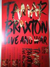 Tamar Braxton Love And War RARE Poster Promo + FREE POSTER! Double-Sided