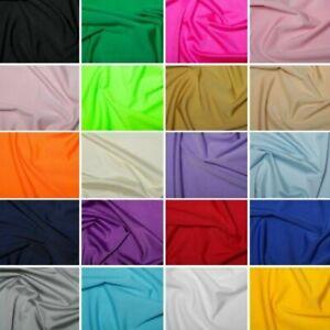 Lycra Fabric Plain Coloured 4 Way Stretch Dancewear Swimwear 150cm Wide