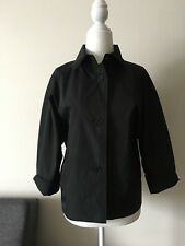 JIL SANDER NWT Women's Zapping Jacket Raincoat Coat 3/4 Sleeve Black Size 40