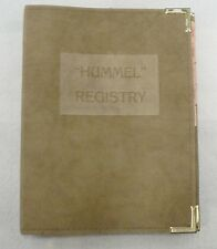 Vintage 1978 Hummel Figurines And Plates Registry Book With Suede Cover