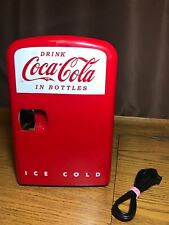 Official Coca-Cola Mini Fridge 2013 Model KWC-4. Warm Or Cold! Tested And Works!