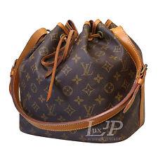 Louis Vuitton Petit Noe Monogram Draw String Shoulder Bag Authentic LV France