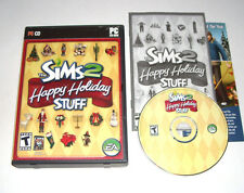 The Sims 2 Happy Holiday Stuff PC Game 2006 Complete Rare Maxis Christmas