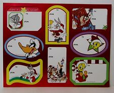 VINTAGE LOONEY TUNES CHRISTMAS GIFT TAGS STICKERS 1 Sheet 8 Tags  b