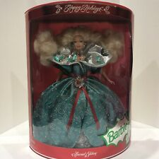 1995 Barbie Happy Holidays Special Edition Green Ball Gown NIB