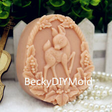 1pcs Sika Deer (zx182) Silicone Handmade Soap Mold Crafts DIY Mould