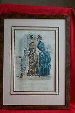 Gravure de mode - Moniteur des dames et des demoiselles - vers 1880