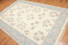 6' x 9' Hand Woven French Needlepoint Aubusson 100% Wool Area Rug - 6x9