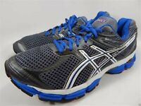 NEW Asics GEL-Cumulus 14 T246N Mens 13 US Running Ink Charcoal Grey Blue Orange