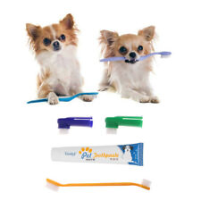 4 Set Pet Dog Cat Puppy Flavour Toothpaste+Toothbrush+Back Up Brush