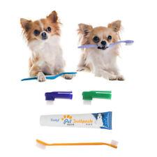 Pet Dog Cat Puppy Toothpaste Toothbrush Back Up Brush 4Pcs/Set Kit Teeth Care