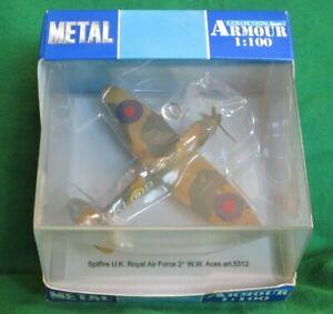 ARMOUR COLLECTION BRITISH RAF SUPERMARINE SPITFIRE WW2 ACES 1/100 #5312