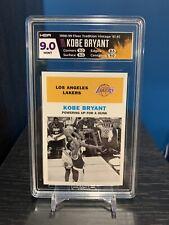 1998-99 Fleer Tradition Kobe Bryant Vintage 61 HGA 9 MINT Feat. Michael Jordan