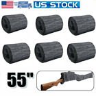 """6 Pcs Silicone Treated Cover Gun Sock Protection Storge Sleeve Up To 55"""" Gray US"""