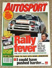 Autosport 18/11/93* F3000 REVIEW - PORSCHE 917 v 962 TRACK TEST -SAINZ INTERVIEW