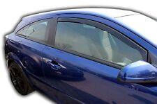 VAUXHALL ASTRA H mk5 3 Doors 2004-2009 FRONT WIND DEFLECTORS 2pc TINTED HEKO