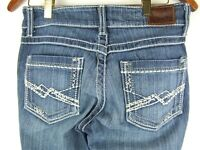 BKE Buckle Womens 27R Culture Jeans Boot Cut Stretch Distressed Denim
